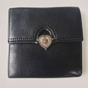 BRIGHTON WALLET BLACK WITH ATTACHED PICTURE HOLDER